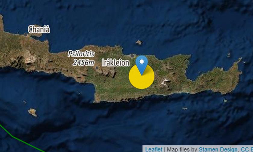 Νέος σεισμός στην Κρήτη, μεγέθους 4,2 βαθμών