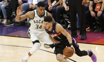 NBA Finals, Σανς - Μπακς 118-108: Το ρεκόρ ο απίστευτος Γιάννης, τη νίκη ο τρομερός Μπούκερ! (vid)