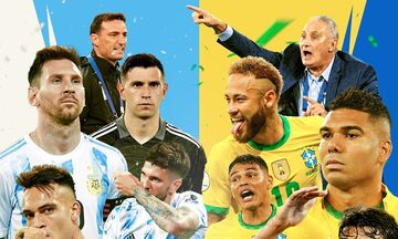 Live Streaming: Αργεντινή - Βραζιλία (03:00)