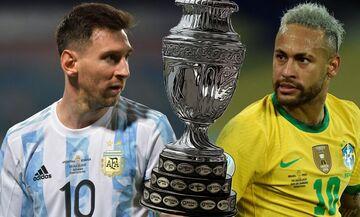 Copa America: Οι αποδόσεις των στοιχηματικών εταιριών για τον τελικό Αργεντινή-Βραζιλία