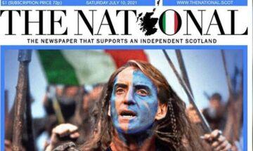 Euro 2020: Χαμός στην Αγγλία με το πρωτοσέλιδο σκωτσέζικης εφημερίδας