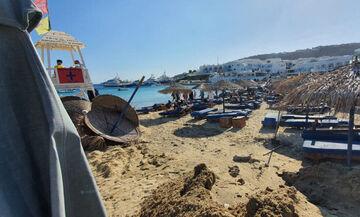 Μύκονος: «Έσκασε» η αποχέτευση και χύθηκαν λύματα - Κόκκινη σημαία στην παραλία Πλατύς Γιαλός (pics)