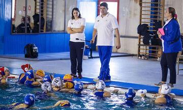 Τέλος Λοράντος, Μανωλιουδάκη, Ρουμπέση από την Εθνική ομάδα πόλο γυναικών