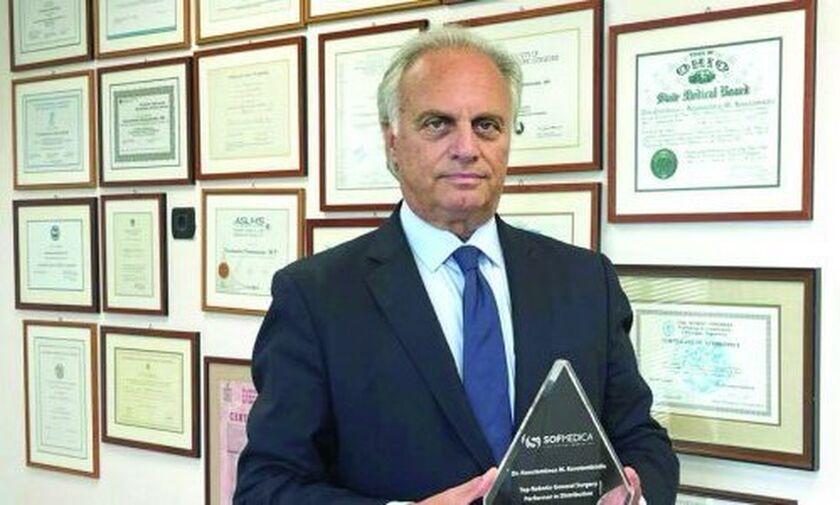 Δρ. Κωνσταντίνος Κωνσταντινίδης: Βραβεύτηκε ως ο κορυφαίος ρομποτικός γενικός χειρουργός