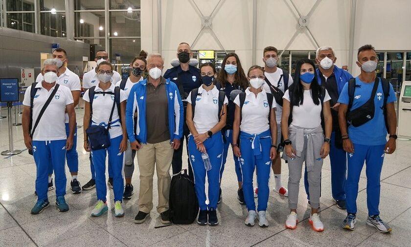 Ολυμπιακοί Αγώνες: Η αναχώρηση της Εθνικής ομάδας στίβου για Τόκιο (pics)