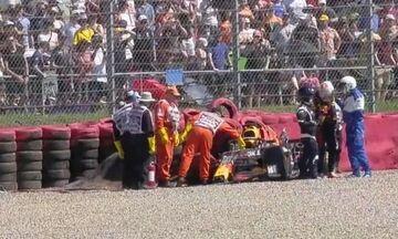 Formula 1: Δείτε τη σύγκρουση Χάμιλτον-Φερστάπεν, προσωρινή διακοπή του Grand Prix (vid)