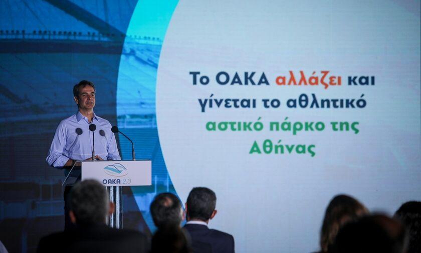 Μητσοτάκης για ανακαινίσεις του ΟΑΚΑ, γήπεδα μπάσκετ, τένις, ποδηλατοδρόμιο