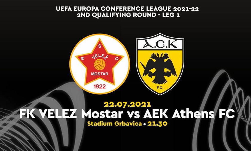 Conference League: Το κανάλι που δείχνει το Βελέζ - ΑΕΚ (21.30)!