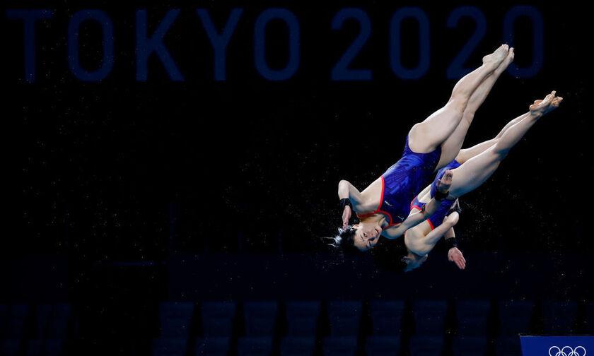 Ολυμπιακοί Αγώνες 2020: Η Κίνα «χρυσή» στις συγχρονισμένες καταδύσεις 3 μ. γυναικών