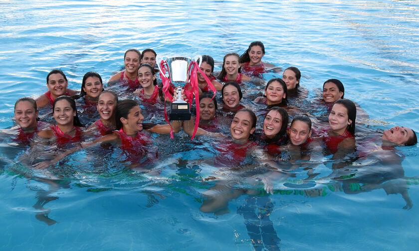Πρωτάθλημα πόλο νεανίδων: Ο Ολυμπιακός σήκωσε την κούπα, 17-4 τη Βουλιαγμένη στον τελικό
