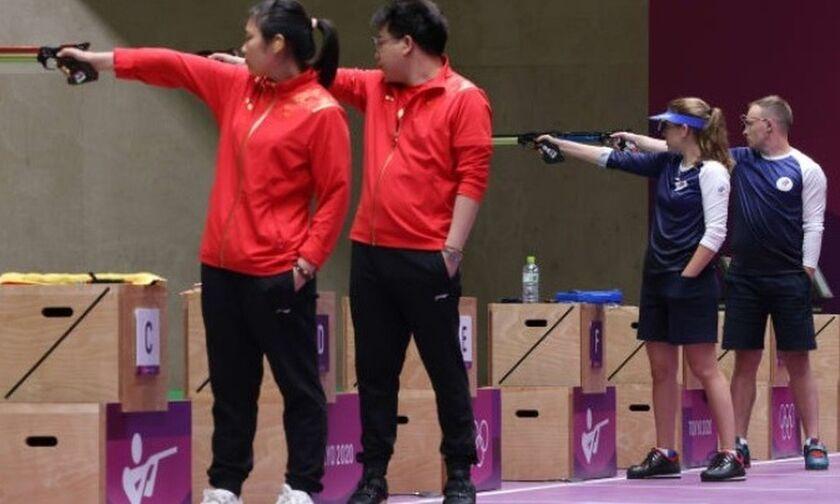 Ολυμπιακοί Αγώνες 2020: Στην Κίνα το χρυσό μετάλλιο στα 10μ. αεροβόλου πιστολιού μικτού ομαδικού