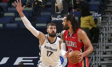 NBA: Στους Πέλικανς ο Βαλαντσιούνας, στους Γκρίζλις οι Άνταμς και Μπλέντσο