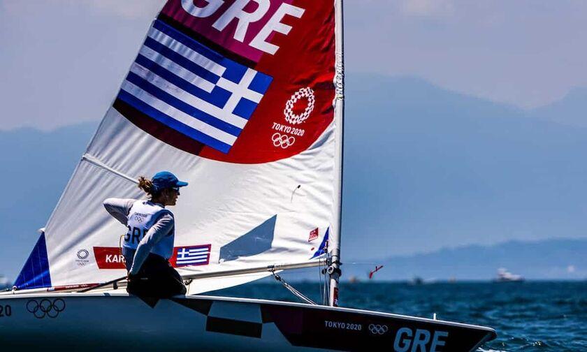 Ολυμπιακοί Αγώνες 2020: Υποχώρησε στην 7η θέση η Καραχάλιου στα Laser Radial