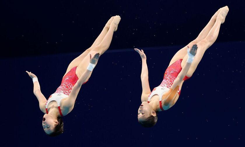Ολυμπιακοί Αγώνες 2020: Στην Κίνα ξανά το χρυσό στις συγχρονισμένες καταδύσεις 10μ. γυναικών