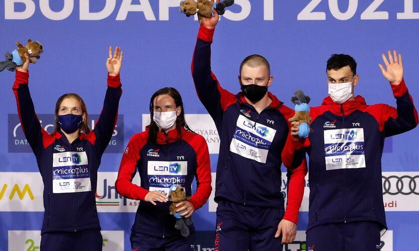 Ολυμπιακοί Αγώνες 2020: Χρυσό με παγκόσμιο ρεκόρ η Μ. Βρετανία στα 4Χ100μ. μικτή ομαδική