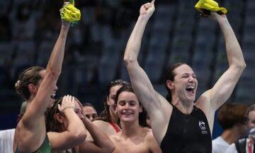 Ολυμπιακοί Αγώνες 2020: «Χρυσή» στα 4Χ100μ. μικτή ομαδική γυναικών η Αυστραλία