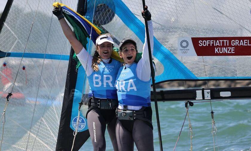 Ιστιοπλοΐα: Χρυσό μετάλλιο για τις Βραζιλιάνες Γκραέλ και Κούνζε