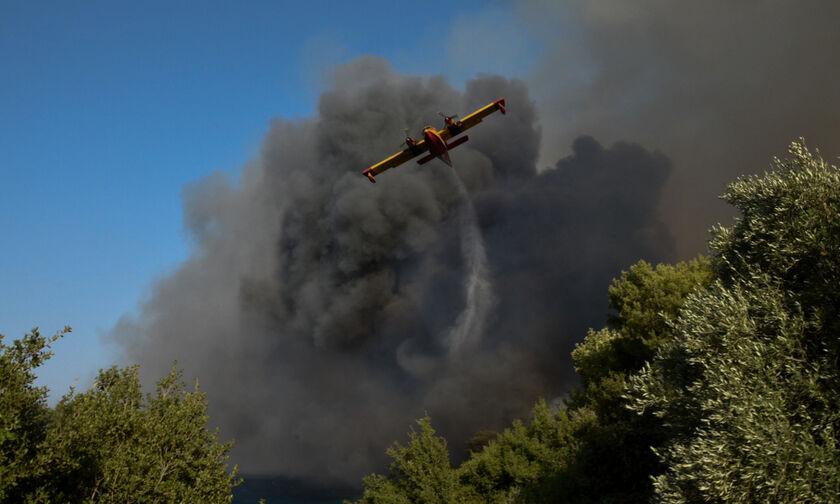 Μεγάλη φωτιά στη Βαρυμπόμπη