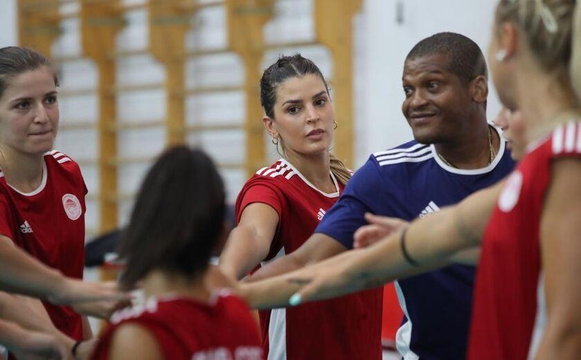 Ολυμπιακός: Ενσωματώθηκε στην προετοιμασία η Μαριάνα (pics)