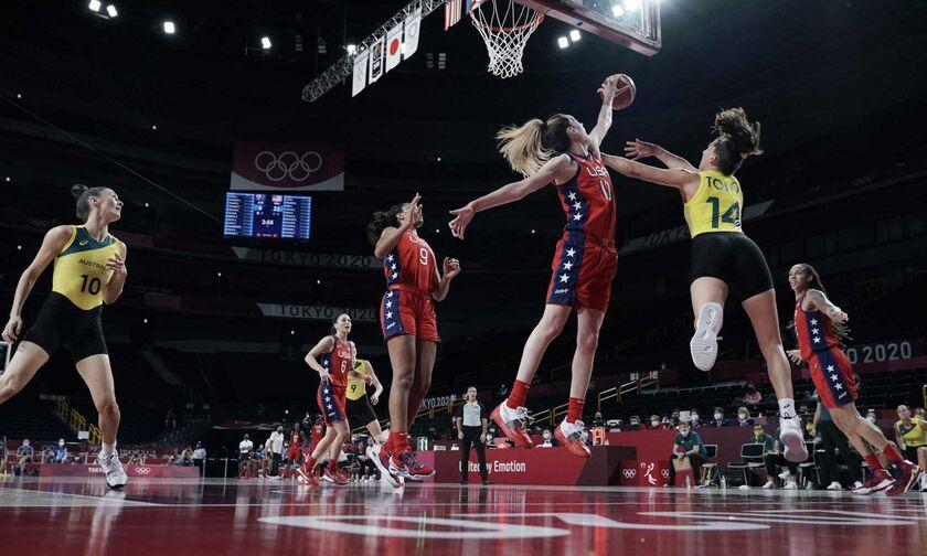Ολυμπιακοί Αγώνες 2020: Ασταμάτητες οι ΗΠΑ, 79-55 την Αυστραλία!