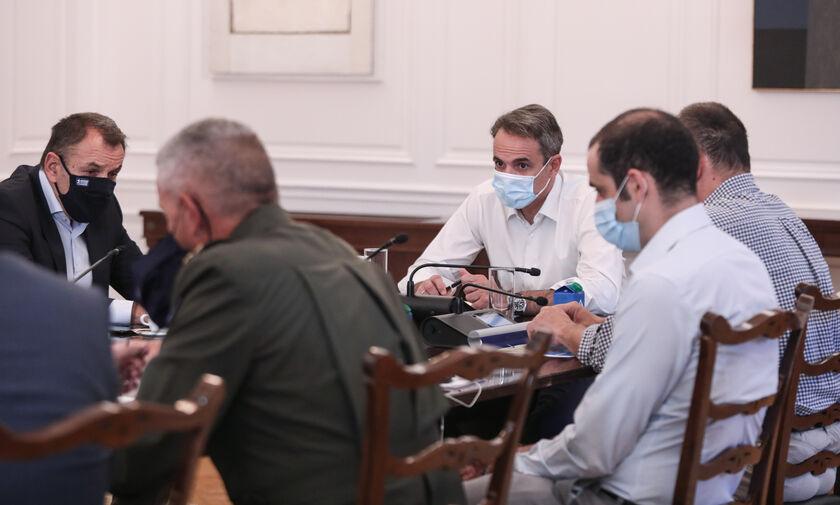 Μαξίμου: Σύσκεψη υπό τον Πρωθυπουργό - Αποφασίστηκε η περαιτέρω συνδρομή των Ενόπλων Δυνάμεων