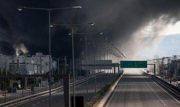 Φωτιές: Άνοιξε η εθνική οδός Αθηνών - Λαμίας