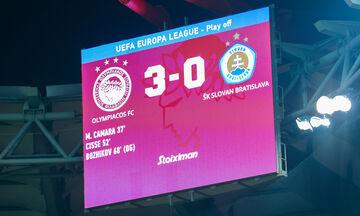 Ολυμπιακός - Σλόβαν Μπρατισλάβας 3-0: Tα highlights του αγώνα (vid)
