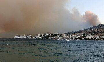 Καλύτερη εικόνα από την φωτιά στην Κάρυστο - Σώθηκε το Μαρμάρι, ζημιές στον οικισμό Κοκκίνη