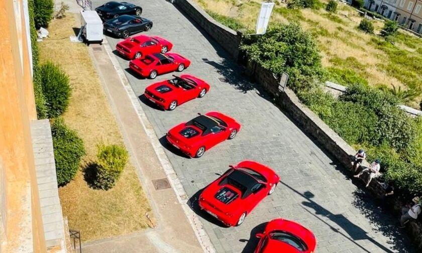 Τι γυρεύουν 30 Ferrari στο Γεώργιος Καραϊσκάκης