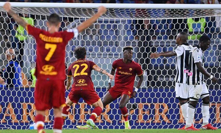 Serie A: Επέστρεψε στις νίκες η Ρόμα, 1-0 την Ουντινέζε (highlights)
