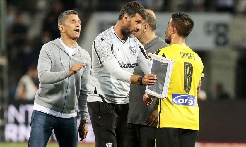 ΠΑΟΚ - ΑΕΚ 2-0: Ένταση μεταξύ Σιμόες και Λουτσέσκου: «Το γκολ μας τώρα ήταν οφσάιντ;»