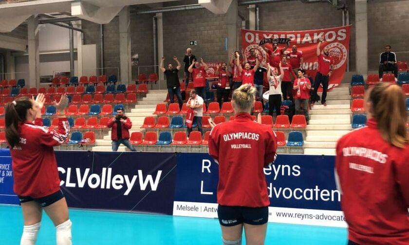Αστερίξ - Ολυμπιακός 1-3: Η αποθέωση για τις «ερυθρόλευκες» στο Βέλγιο (vid, pics)