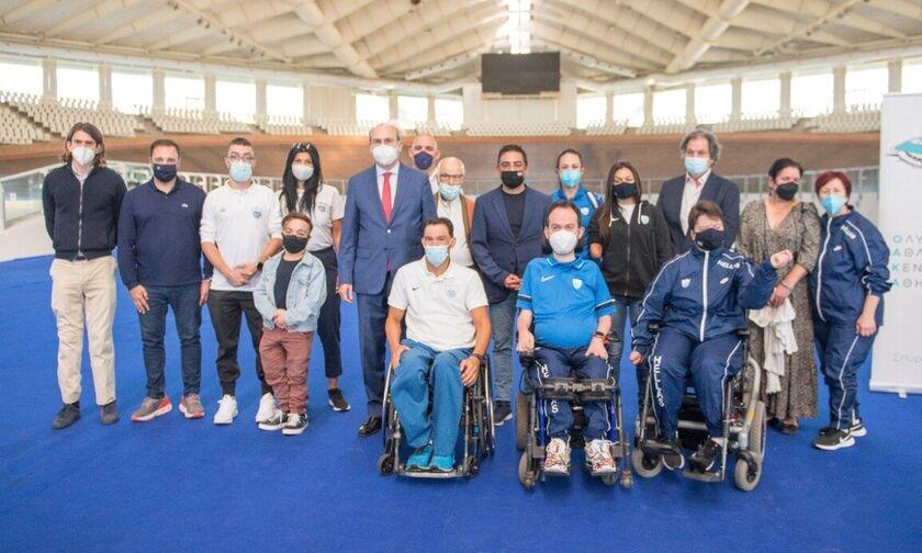 Συνάντηση Χατζηδάκη με τους Παραολυμπιονίκες στο ΟΑΚΑ