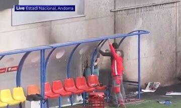 Ανδόρα-Αγγλία: Κανονικά το ματς παρά την πυρκαγιά στο γήπεδο (vid)