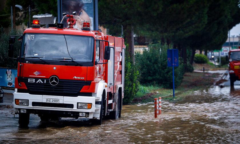 Κακοκαιρία: Συνολικά 1.164 κλήσεις στην Πυροσβεστική για παροχή βοήθειας