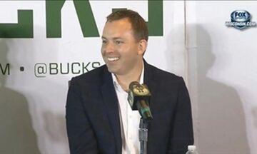 Μπακς: Πολυετές συμβόλαιο στον GM που «έχτισε» την πρωταθλήτρια ομάδα του Μιλγουόκι