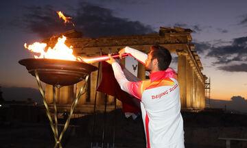 Στην Ακρόπολη η Φλόγα των Χειμερινών Ολυμπιακών Αγώνων
