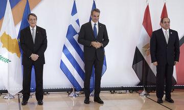 Ελλάδα, Αιγύπτος και Κύπρος καλούν την Τουρκία να «μαζευτεί» - Τι αναφέρει η κοινή διακήρυξη