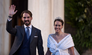 Φίλιππος Γλύξμπουργκ – Νίνα Φλορ: Ενώθηκαν με τα δεσμά του γάμου στη Μητρόπολη (pics, vid)