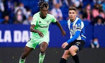 La Liga: «Χ»αμένη ευκαιρία για Αθλέτικ Μπιλμπάο κόντρα στην Εσπανιόλ (1-1)